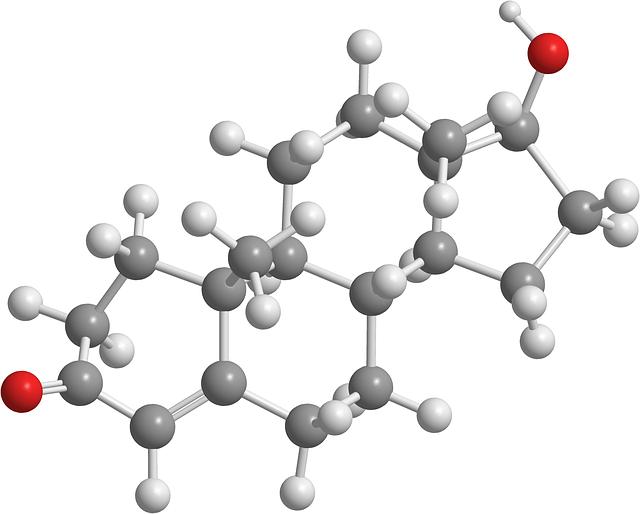 Molekuly hormonu testosteron